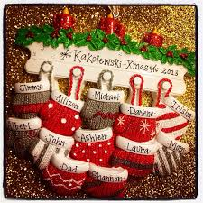 personalized ornament large family by adornamentsny
