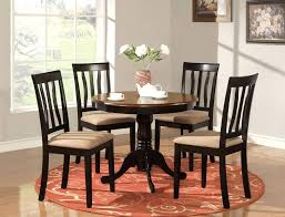 Kitchen Table Centerpieces by Kitchen Amazing Black Round Kitchen Table With Centerpiece And