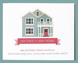 new home announcement postcard moving announcement