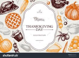 thanksgiving day menus thanksgiving day menu design vector frame stock vector 484453567