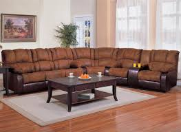leather sectional with sleeper and recliner reclining sofa full