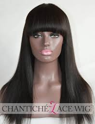 invisible hair yaki human hair invisible hair whorl lace wigs with bangs