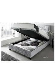 silver walkworth ottoman bed