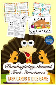 thanksgiving text structures task cards paragraph thanksgiving