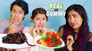 Challenge Reto Gusanos Reales Vs Gomita Reto Polinesios Real Gummy Challenge