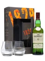 glenlivet 12 year old 2 glasses gift pack scotch whisky the