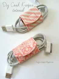 made by me shared with you tutorial diy cord keeper from