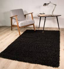 amazon com luxury super soft black shag shaggy living room