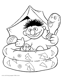 sesame street color coloring pages kids cartoon 12588