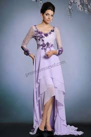 light purple long dress prom dresses online light purple long sleeves applique hi low