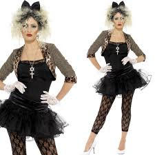madonna halloween costumes 80s wild child pop icon fancy dress costume u2013 ladies 1980s madonna