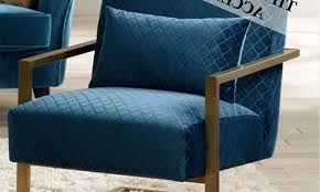 Blue Accent Chair Peacock Fabric Chair Ansley Blue Teal Leather Accent From Peacock