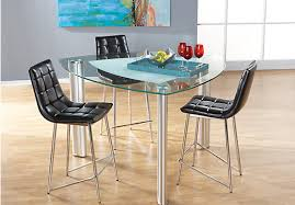 onyx metal 4 pc counter height dining set dining room sets metal