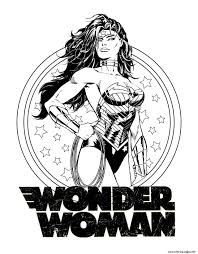 woman dc comics coloring pages printable