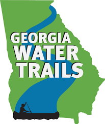 Blank Map Of Georgia by Water Trail Maps