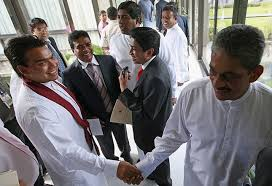 Namal Rajapaksa Namal Rajapaksa With General Sarath Fonseka U2013 Onlanka Blog