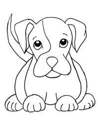 sketsa gambar hewan anjing gambar mania