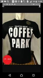 Baju Coffeepark jual kaos tshirt baju coffee park rejo cloth