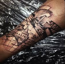 50 world map tattoo designs for men adventure the globe