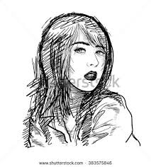 beautiful sketch hand drawn vector stock vector 383575846