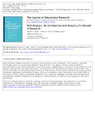 path analysis an introduction and analysis of a decade of research
