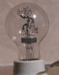 Unique Light Bulbs Reddy Kilowatt Unique Light Bulb Light