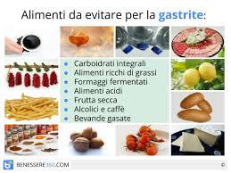 per la gastrite cosa non mangiare l alimentazione consigliata