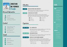 design haven creative resume and cv template g1 a4 landscape
