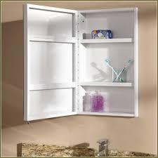 bathroom cabinets open white wooden recessed medicine cabinet no