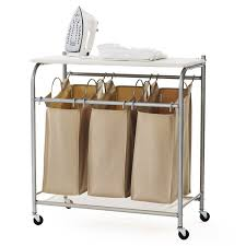 Laundry Divider Hamper by 3 Bin Laundry Sorter Folding 3 Section Storage Laundry Sorter Bin