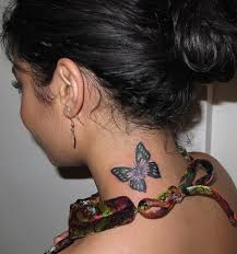 71 butterfly neck tattoos