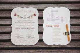 Cute Wedding Programs What To Include In A Wedding Program Tbrb Info