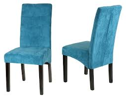 Modern High Back Dining Chairs Amazon Com Cortesi Home Monty Microfiber Dining Chair Blue Set