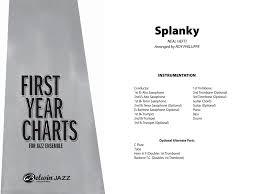 Count Basie Splanky Pdf Splanky By Neal Hefti Arr Roy Phillippe J W Pepper Sheet