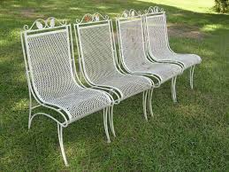 Antique Wrought Iron Outdoor Furniture by Vintage Wrought Iron Patio Furniture Chair Set Popular Vintage