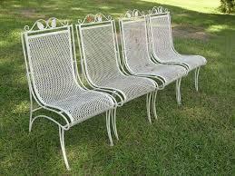 vintage wrought iron patio furniture chair set popular vintage