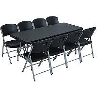 Lifetime Folding Chairs Lifetime Combo One 6 U0027 Commercial Grade Folding Table And 6 Folding