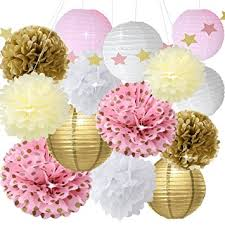 pink gold baby shower baby shower decor for birthday party decoration