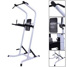 Home Gym by Costway Chin Up Stand Pull Up Bar Dip Power Tower Home Gym Fitness