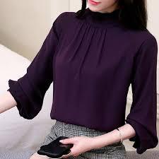 purple blouses blusas feminina chiffon blouses 2018 casual