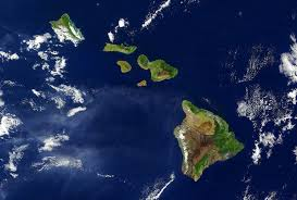 Hawaii Island Map Volcanoes Clouds Space Coral Mountains Big Oahu Reef Atoll View