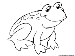Frog Coloring Page Or Art Pattern Nuttin But Preschool Frog Colouring Page