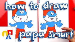 draw papa smurf