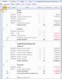 plan comptable fourniture de bureau français banana accounting software