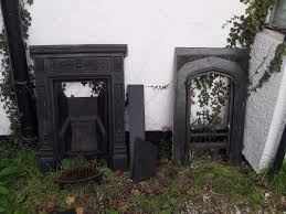 lovely antique biclam cast iron fireplace another old fireplace