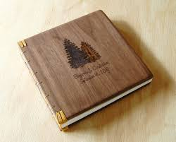 engraved wedding albums buy a custom engraved wood wedding or vacation home guest book