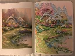 27 best t kinkade images on coloring books