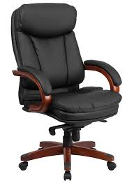 Leather Office Chair Btod High Back Leather Office Chair Mahogany Wood Base