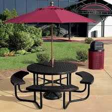 Picnic Table Frame Round Expanded Steel Table Portable Frame Anova