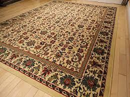 amazon com large 8 u0027x11 u0027 traditional cream rugs floral area rugs